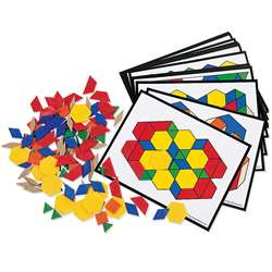 Pattern Block Activity Pk 124 Blocks 16 Cards By Learning Resources