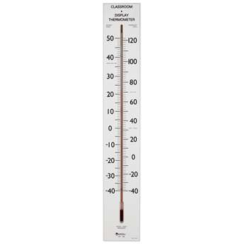 Giant Classroom Thermometer 30T Dual-Scale Wooden Frame By Learning Resources