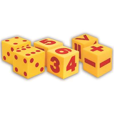 Giant Soft Cube Set 6/Pk 1 Each 2096 0411 0412 By Learning Resources