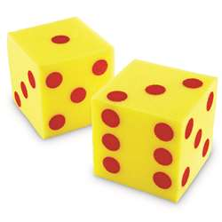 Giant Soft Cubes Dot 2/Pk 5 Square By Learning Resources