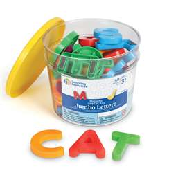 Jumbo Magnetic Letters 40/Pk Uppercase 2-1/2 Bucket By Learning Resources