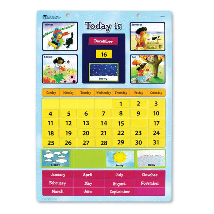 Magnetic Learning Calendar 12 X 16-1/2 By Learning Resources