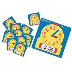 Write-On/Wipe-Off Clocks 10/Pk Student 4-1/2 Square By Learning Resources