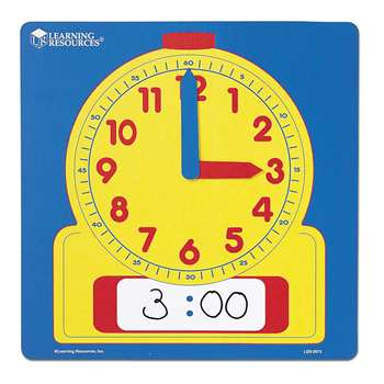 Write-On/Wipe-Off Demonstration 12 Square Clock By Learning Resources