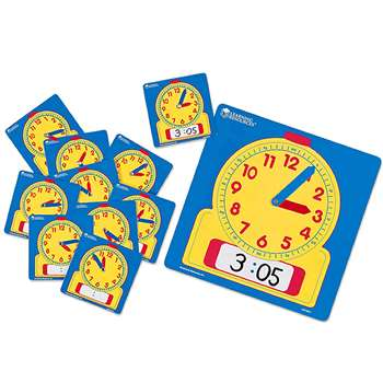 Write-On/Wipe-Off Clocks Class Set 1 Of 0573 & 24 Of 0572 By Learning Resources