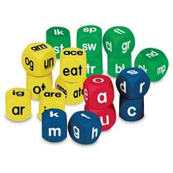 Phonics Cubes Class Pk Set 1 Each 0586-0588 By Learning Resources