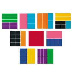 Delx Rainbow Fraction Squares 51/Pk By Learning Resources