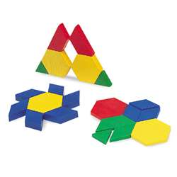 Pattern Blocks Mini-Set 100/Pk 5Cm Plastic By Learning Resources