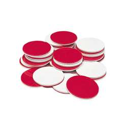 Red & White Counters 200/Pk Plastic Circle-Shaped By Learning Resources