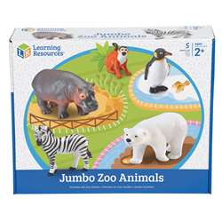 Jumbo Zoo Animals 5/Set By Learning Resources