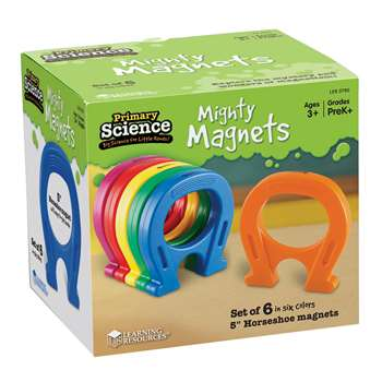Horseshoe-Shaped Magnets Set Of 6 By Learning Resources