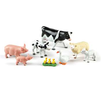 Jumbo Farm Animals Mommas & Babies, LER0835