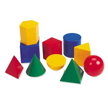 Large Geometric Shapes 10/Pk 3D By Learning Resources