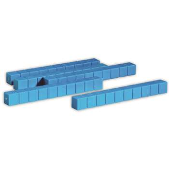 Base Ten Rods Plastic Blue 50 Pk 1X1X10Cm By Learning Resources