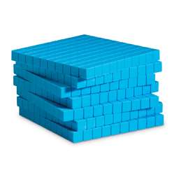 Base Ten Flats Plastic Blue 10/Pk 1X10X10Cm By Learning Resources
