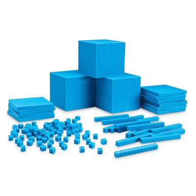 Base Ten Place Value Set 100 Units 50 Rods 10 Flats 3 Cubes By Learning Resources