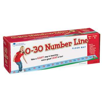 0-30 Number Line Floor Mat By Learning Resources