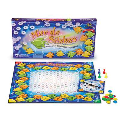 Mar De Silabas Sea Of Syllables Game By Learning Resources