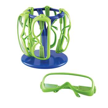 Primary Science Safety Glasses 6 Set In A Stand By Learning Resources
