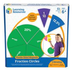 Double Sided Magnetic Fraction Circles By Learning Resources