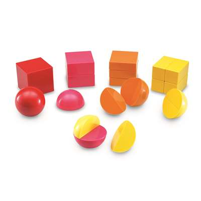 Magnetic 3-D Fraction Shapes By Learning Resources