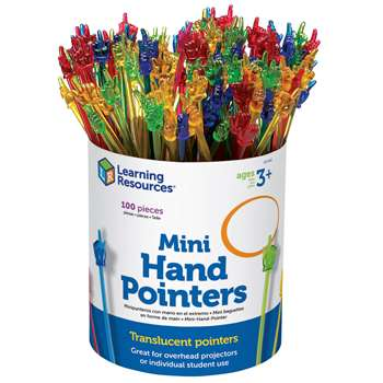 Mini Hand Pointers Set Of 100 By Learning Resources