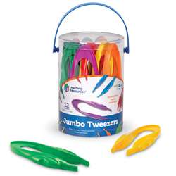 Easy Grip Tweezers Set Of 12 By Learning Resources