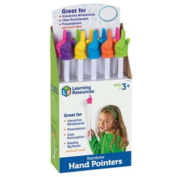 Rainbow Hand Pointers Set Of 10 Pop Display By Learning Resources