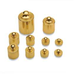 Brass Mass Set 10/Pk Precision Weight Metrimc By Learning Resources