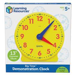 Big Time Clock Demonstration 12 Hr 13-1/4H Plastic By Learning Resources