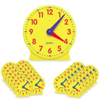 Classroom Clock Kit 2094 & 24 Mini Clocks By Learning Resources