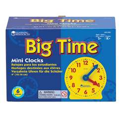 Extra 4 Geared Mini-Clocks 6/Pk By Learning Resources