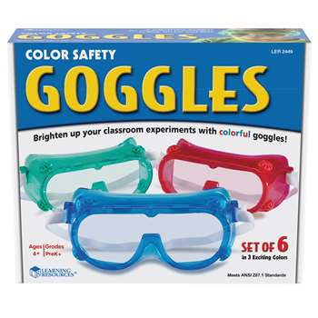 Rainbow Safety Goggles Set Of 6 By Learning Resources