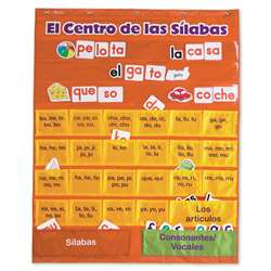 Spanish Syllables Pc W/ Cards Chart By Learning Resources