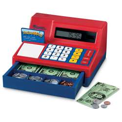 Calculator Cash Register W/ Us Currency By Learning Resources
