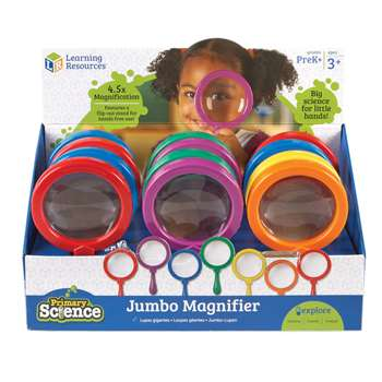 Jumbo Magnifier Countertop 12/Set Display Pop By Learning Resources