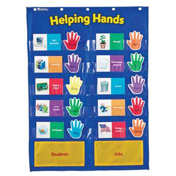 Pocket Chart Helping Hands By Learning Resources