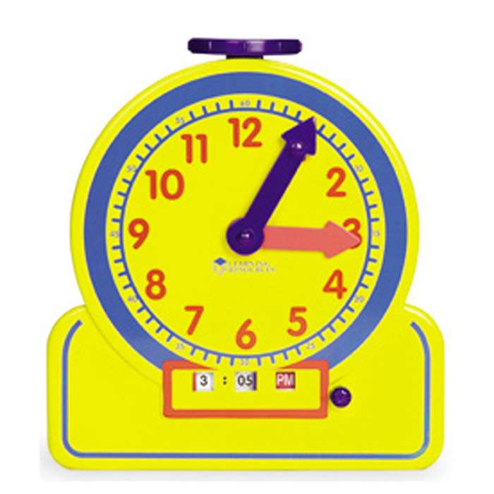 The Primary Time Teacher Junior 12 Hour Learning Clock By Learning Resources