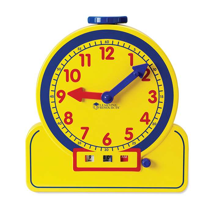 The Primary Time Teacher 12 Hour Teaching Clock By Learning Resources