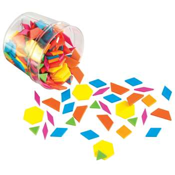 Plastic Pattern Blocks Brights 0.5Cm Thick, LER3550