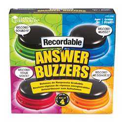 Recordable Answer Buzzers Set Of 4, LER3769