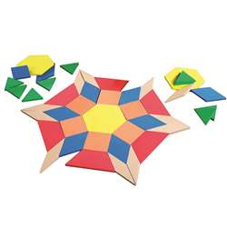 Giant Foam Floor Pattern Blocks 49 Pcs, LER4357