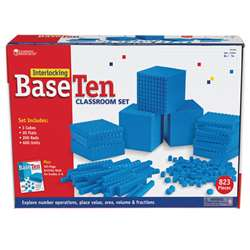 Interlocking Base Ten Class Set By Learning Resources