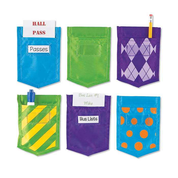 Solids And Patterns Magnetic Mini Pockets Set Of 6 By Learning Resources
