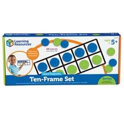 Giant Magnetic Ten Frame Set 4 Frames 40 Pieces By Learning Resources