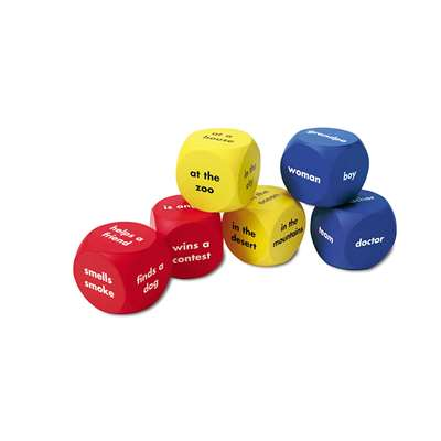 Soft Foam Story Starter Word Cubes By Learning Resources