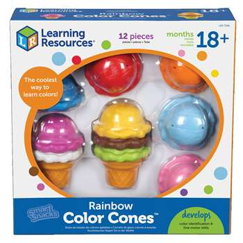 Shop Smart Snacks Rainbow Color Cones - Ler7349 By Learning Resources