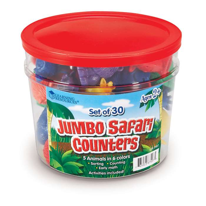 Jumbo Safari Counters By Learning Resources