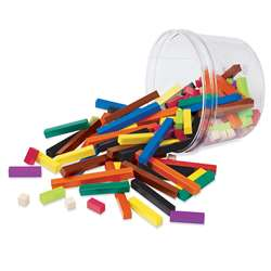 Cuisenaire Rods Small Group 155/Pk Plastic By Learning Resources