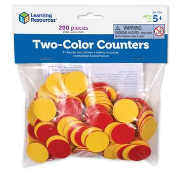 Two Color Counters Red And Yellow Set Of 200 By Learning Resources
